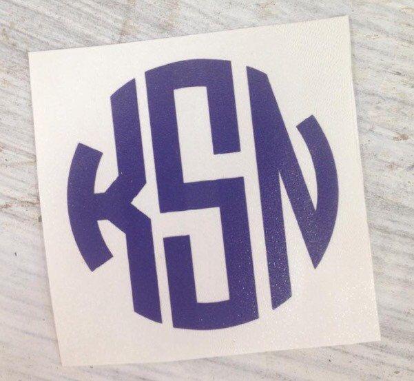 CIRCLE Monogram Vinyl Decal - pinned by pin4etsy.com