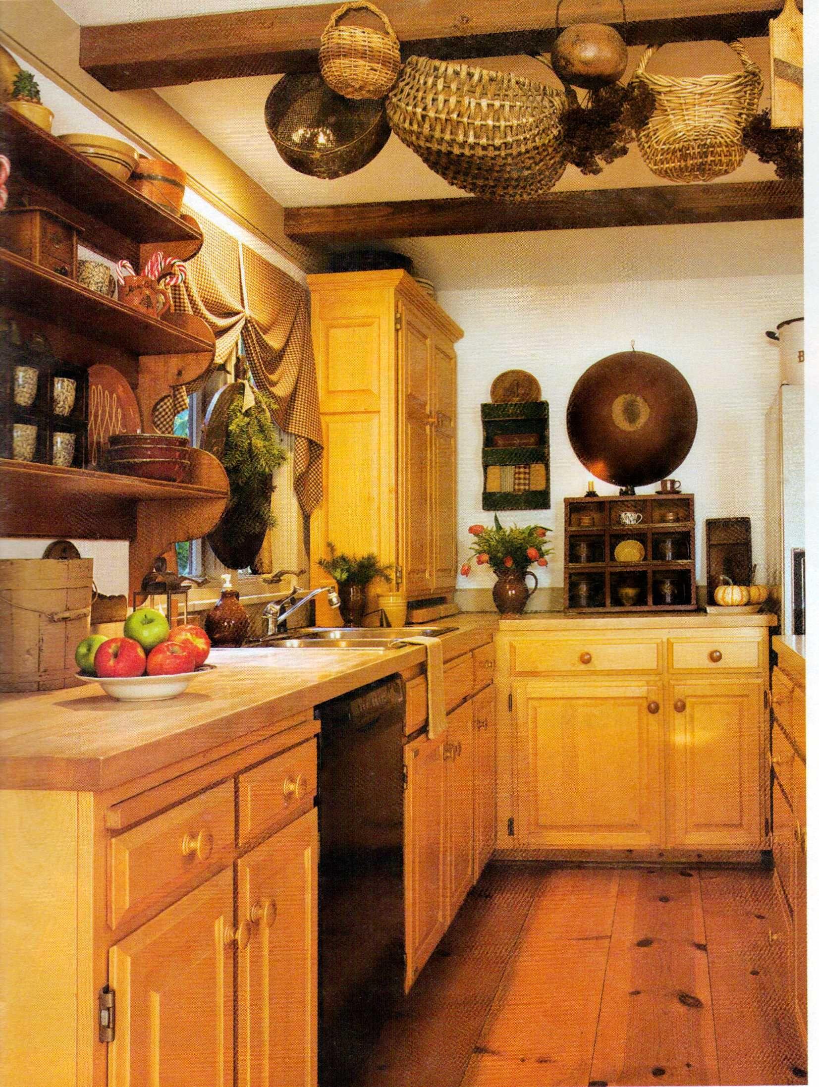 Country Kitchen | Primitive Decor | Country kitchen, Rustic kitchen design, Green kitchen decor