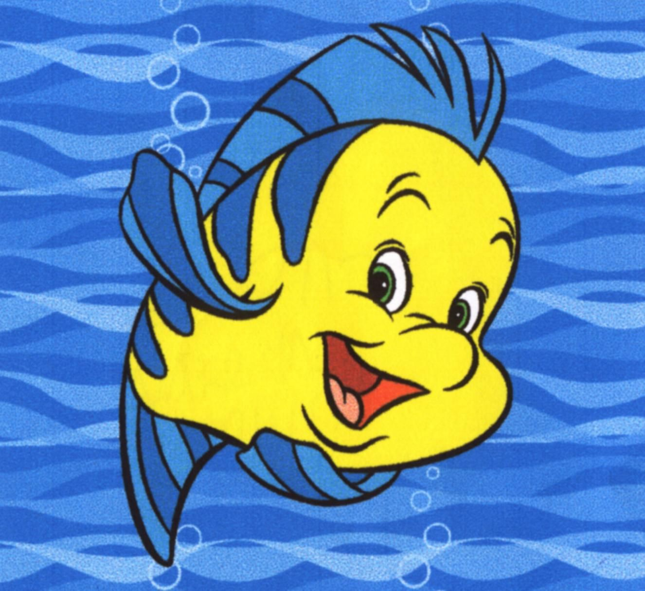 F is for flounder the fish literacymonth half price for The little mermaid fish