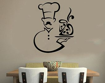 Cocinero chef housewares pared vinilo etiqueta arte for Vinilos pared comedor