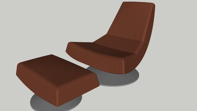 MONTIS olivier chair & ottoman - 3D Warehouse