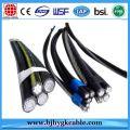 0.6 / 1KV Al Conductor XLPE / PVC / PE Insulated/Overhead Aerial Bundle Cable