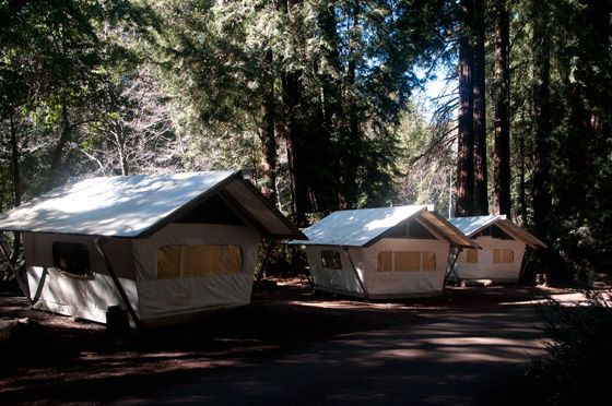 Tent Cabins at Fernwood Resort and C&ground - located among the redwoods on the banks of Big Sur River and close to the ocean this resort has tent cabins ... & Tent Cabins at Fernwood Resort and Campground - located among the ...