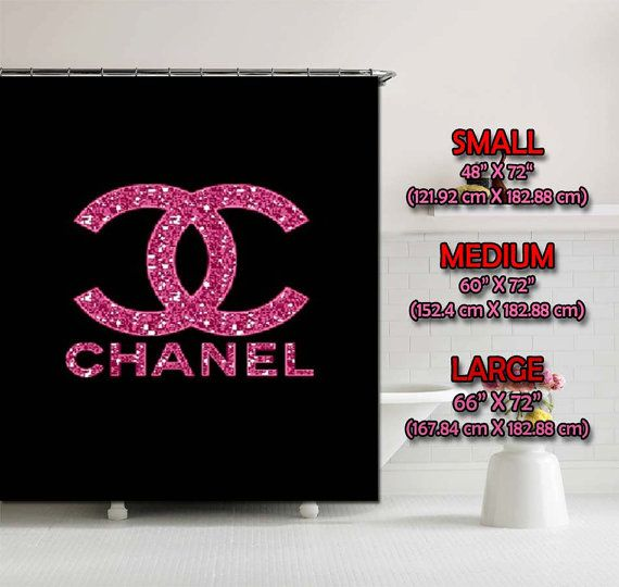 Hot Luxury Pink Bling Logo Shower Curtain Bath By RatnaDewi4u 3499