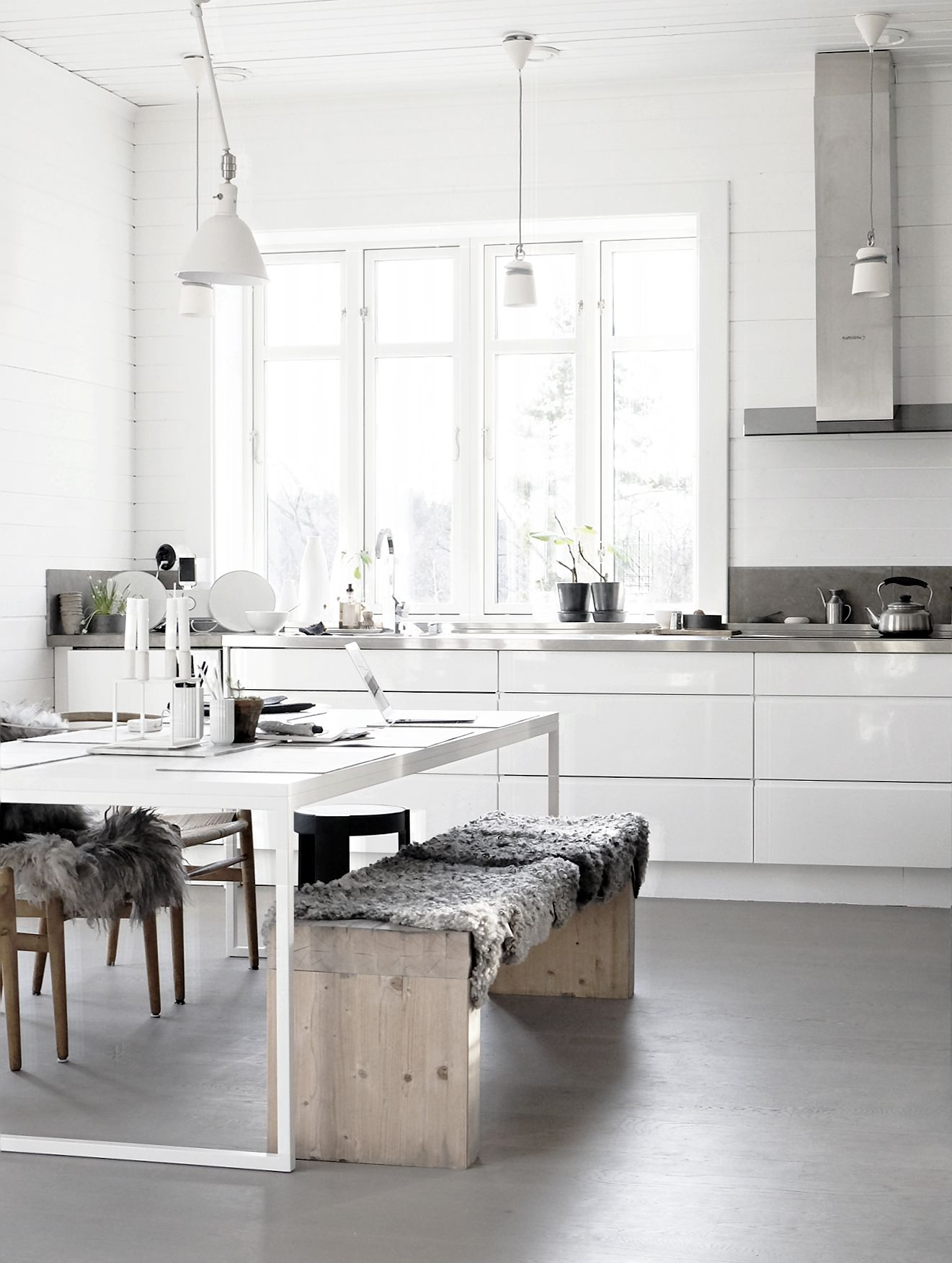 Home interior design kitchen weekend lovin  bench fur and scandinavian kitchen