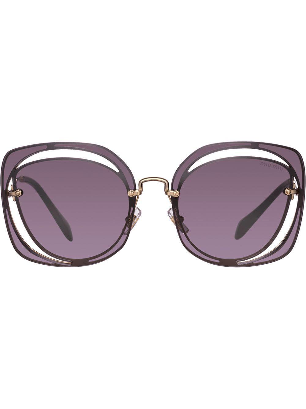 525c8ca6cb00 Miu Miu Eyewear Scenique sunglasses - Brown in 2019 | Products | Miu ...