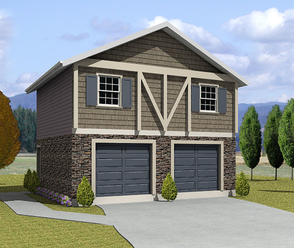 Plan 3562WK: Two Bedroom Carriage House