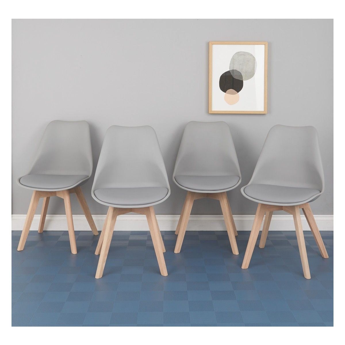 Jerry Set Of 4 Grey Dining Chairs Habitat Dining Chairs Dining