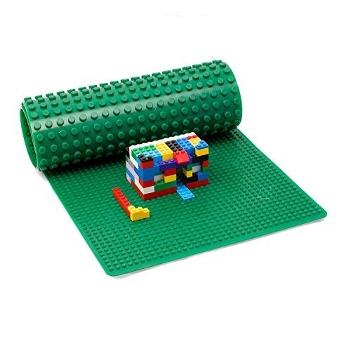 Large LEGO & DUPLO Compatible Baseplate, Measures 32 inches x 12 inches in Green