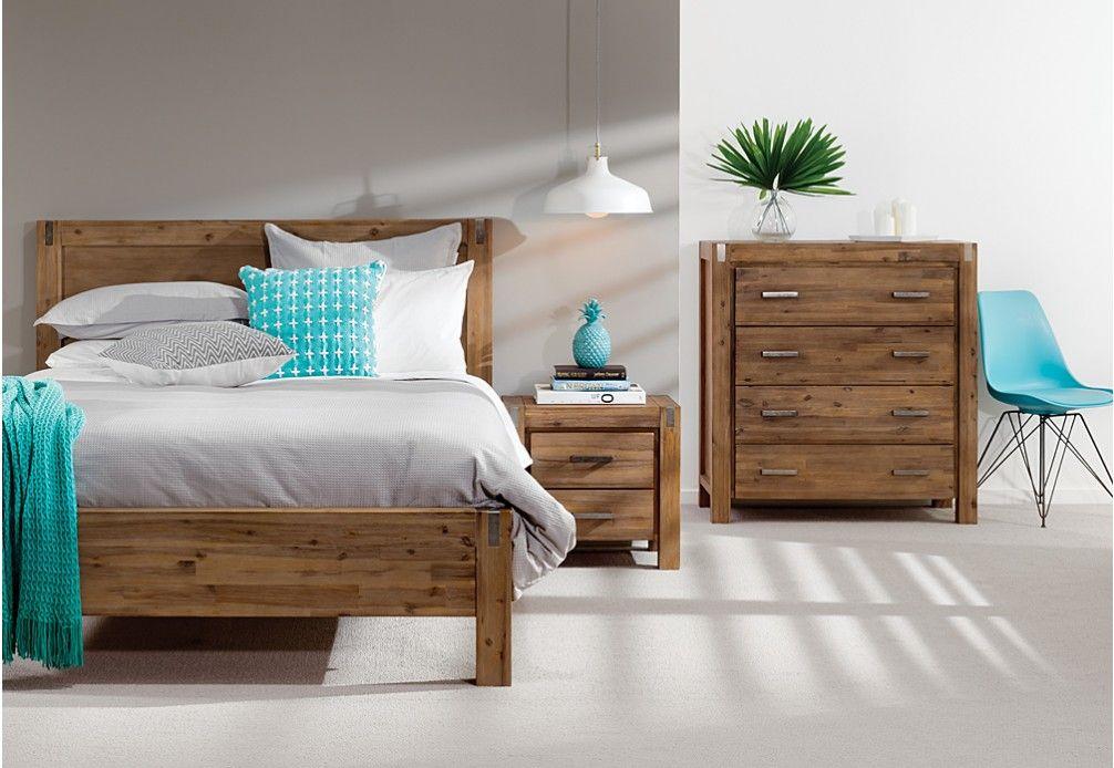 Best Silverwood 4 Piece Tall Chest Queen Bedroom Suite Super 640 x 480