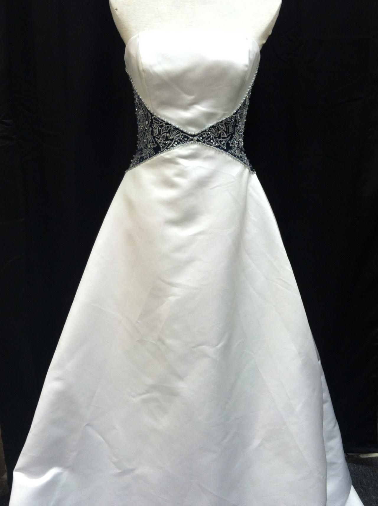 Brand new with tags size bonny gown dark blue detailing on the