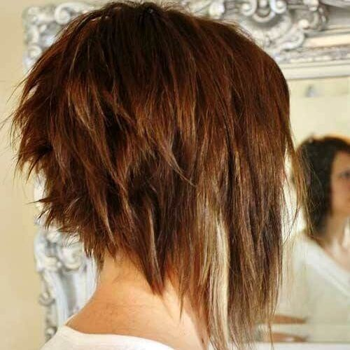 Messy Stacked A Line Bob Stacked Bob Hairstyles Hair Styles Bobs Haircuts