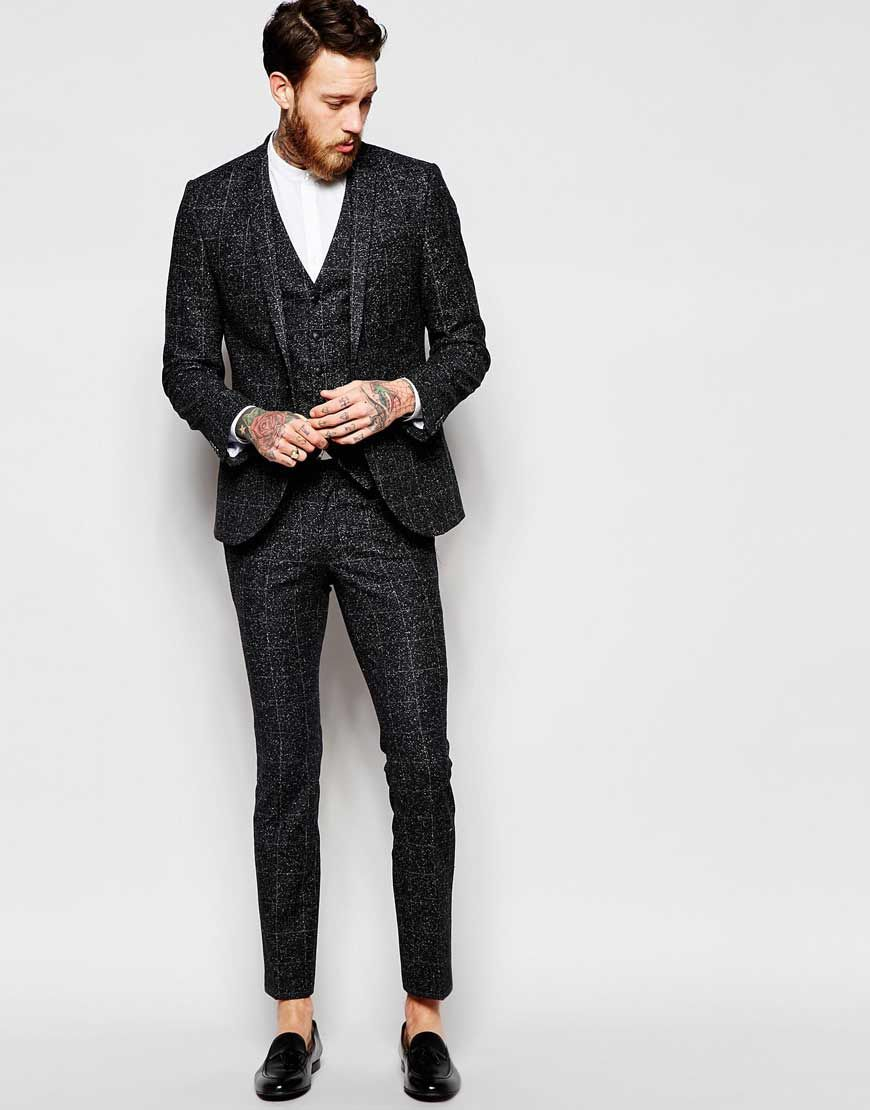 Noak+Check+Black+Suit+with+Fleck+in+Super+Skinny+Fit | Prom Suits ...