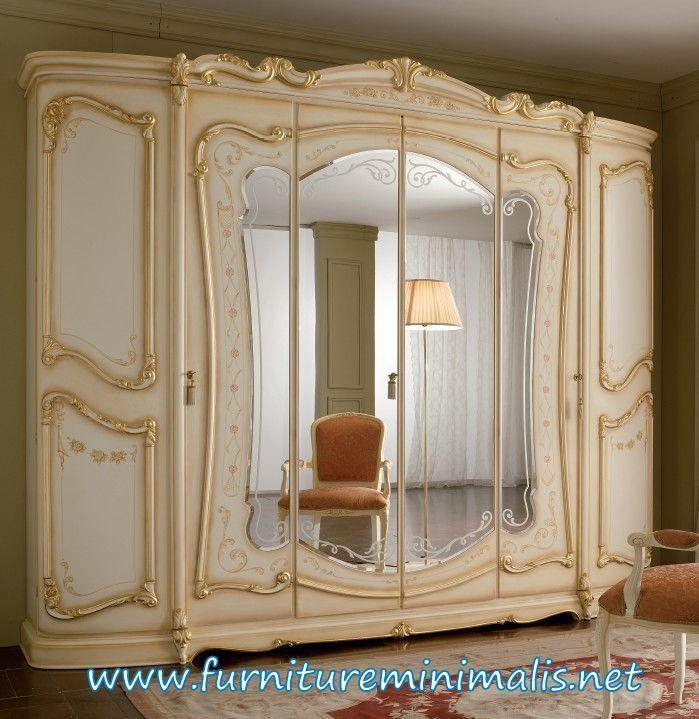 Lemari Pakaian Mewah Terbaru Ukir Jepara Bufet Mewah Duco Kaca - spiegel für schlafzimmer