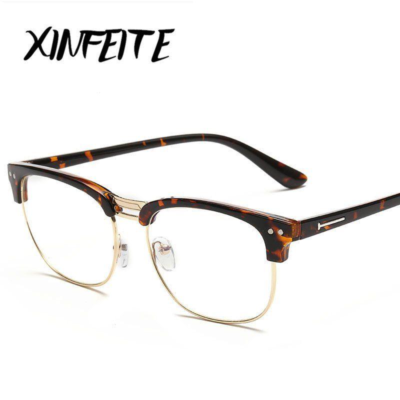 98f3ebf9f9d XINFEITE+Unisex+Vintage+Computer+Optical+Eyewear+Glasses+Frame++Men +Women+UV+Protection+Male+Ca