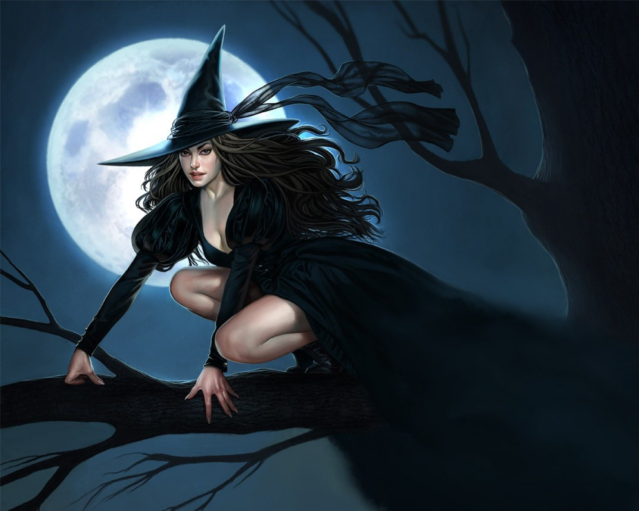 Sexy Halloween Witch Wallpaper 37595 Sexy Witch