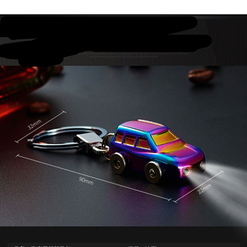 Toys car keys  LED Light Metal Car Keyring Keychain Key Holder Keyring For Men