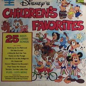 Walt Disney Records | walt disney children s favorites volume i 1979 2505 disneyland record ...