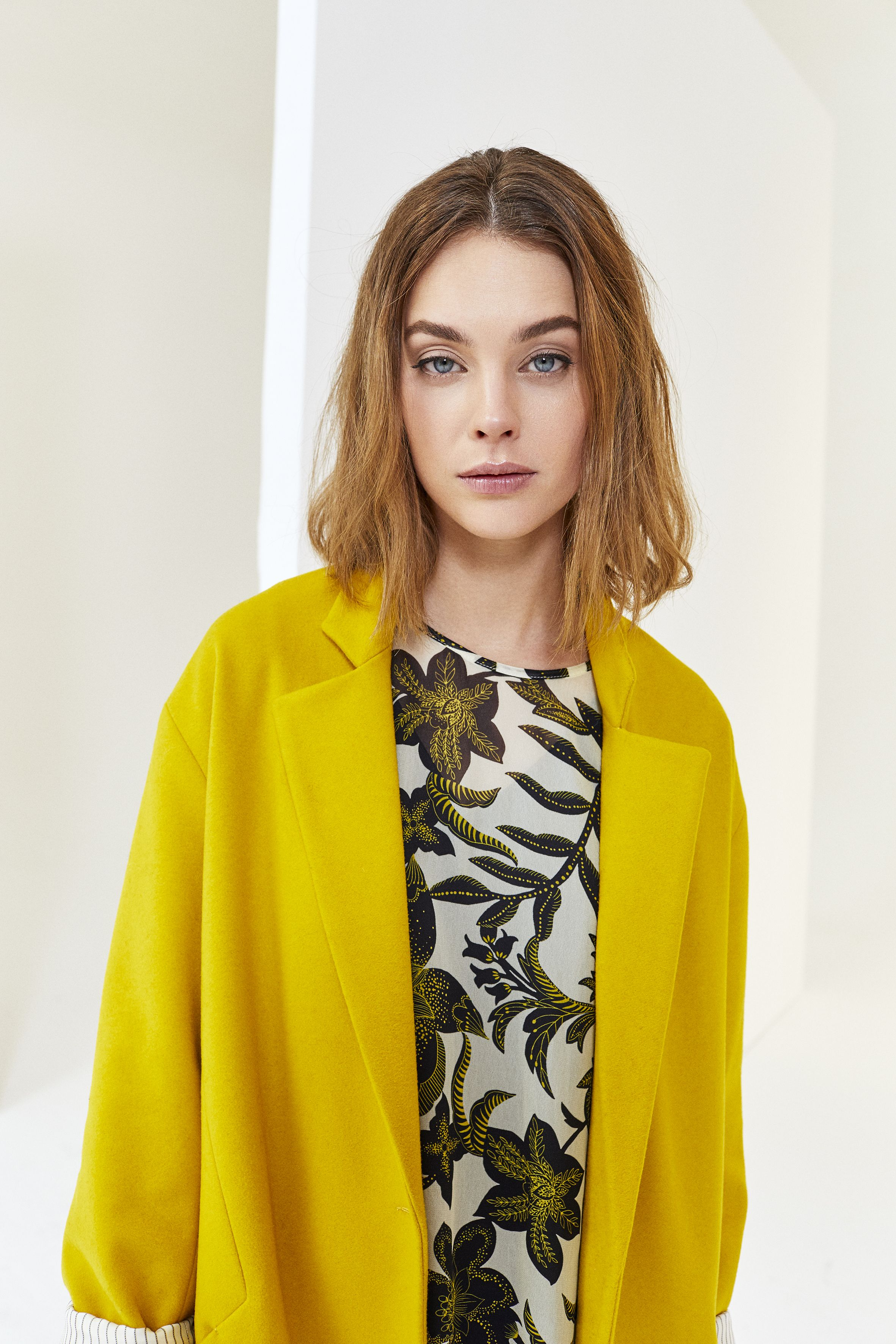 Robe d'hiver jaune