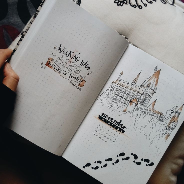 Photo of Første side av November Bullet Journal i Harry Potter-stil – Ha det gøy med …