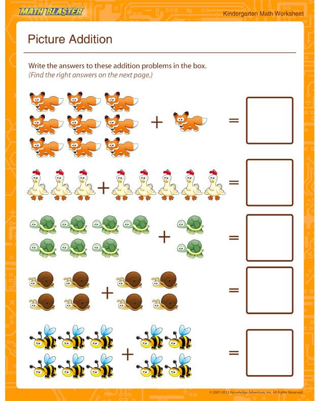 Picture Addition Math Worksheet For Kindergarten Kindergarten Math Worksheets Addition Kindergarten Math Worksheets Kindergarten Math Worksheets Free