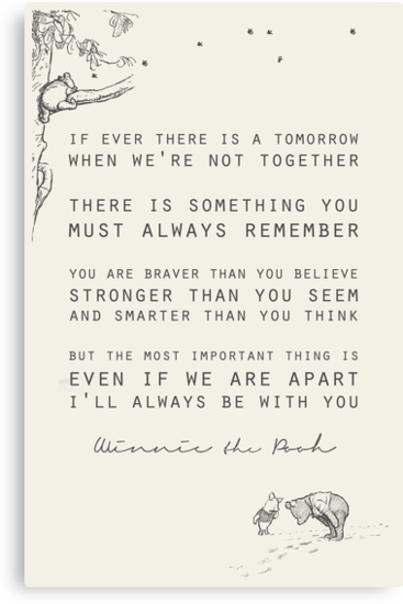 Winnie the Pooh inspiration for grief and loss over a person, or pet