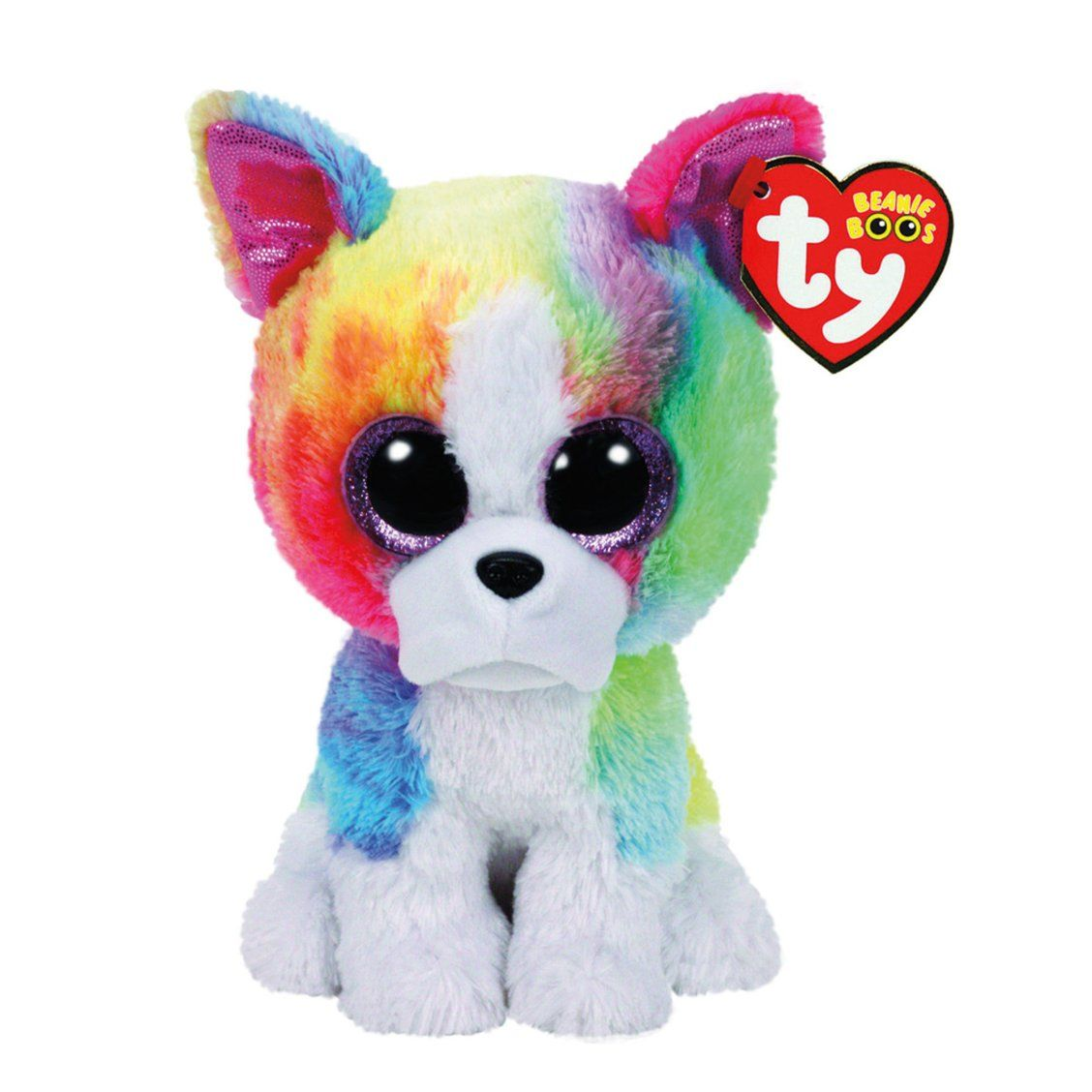 Ty Beanie Boo Small Isla The Rainbow Bulldog Plush Toy I Like To Hang Out With My Friends And Play Dress Up It S Ty Beanie Boos Beanie Boos Beanie Boo Dogs