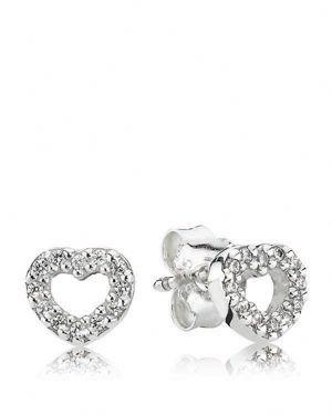PANDORA Stud Earrings - Cubic Zirconia Be My Valentine