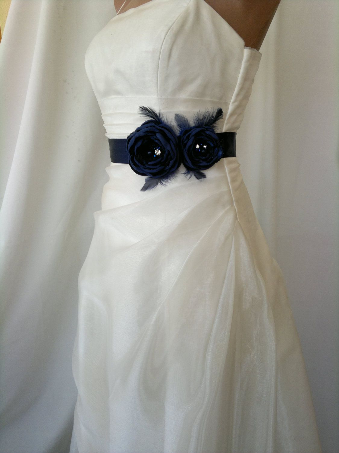 Bridal belt navy bridal sash floral bridal belt sash belt dark