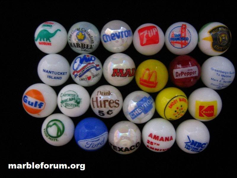 These Contemporary One Inch Advertising Marbles Started