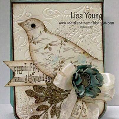 Vintage bird card