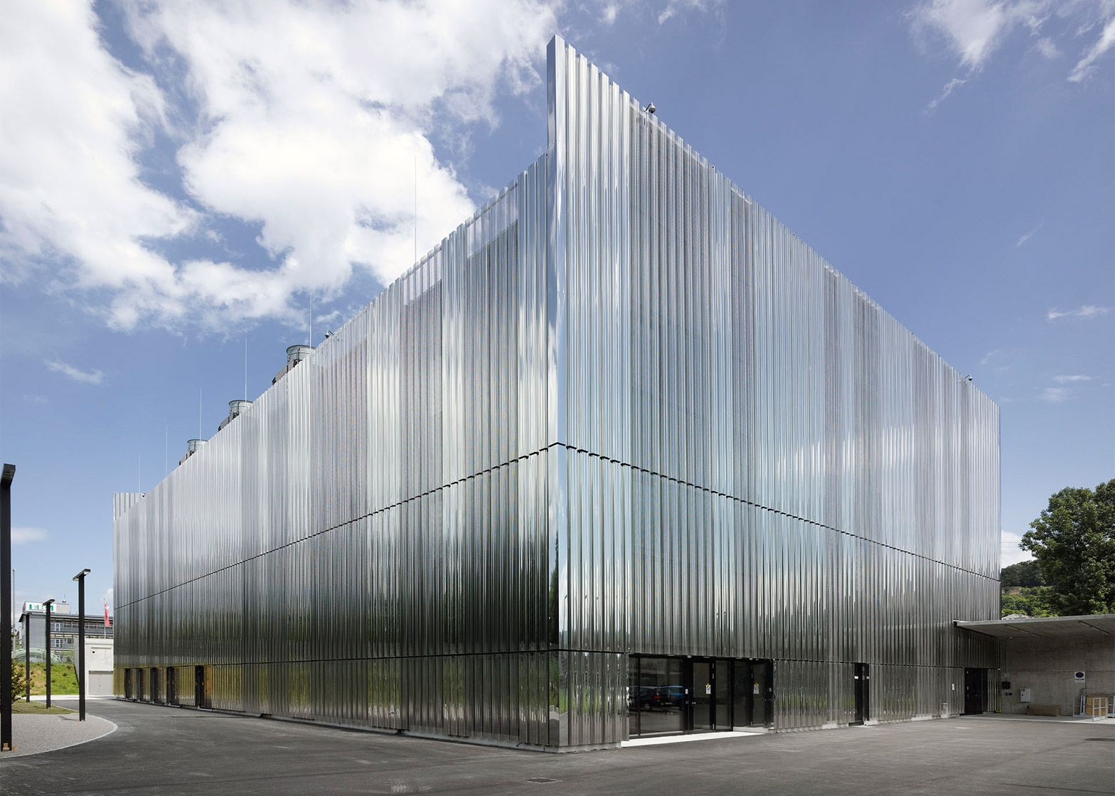 This Data Storage Centre In Basel By Ffbk Architects Has A