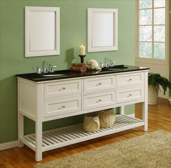 The Mission Style Bathroom Vanity Cabinet Vintage Bathroom