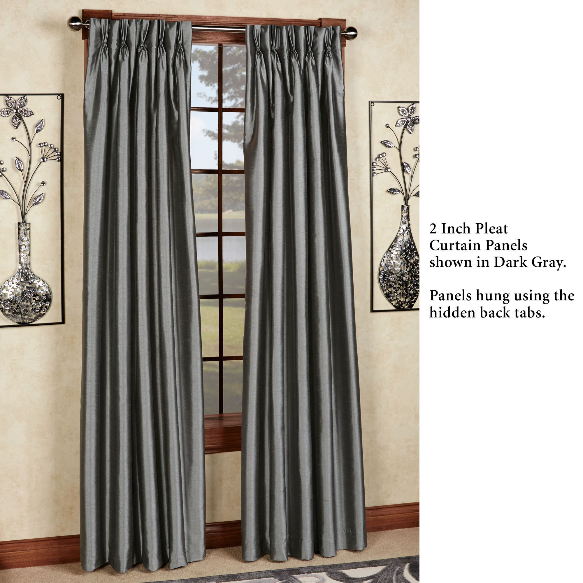 Marquee Flared Faux Silk Pinch Pleat Curtain Panel Panel Curtains Pinch Pleat Curtains Pleated Curtains