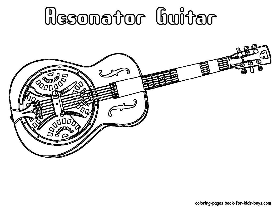 Resonator Guitar Coloring Pages