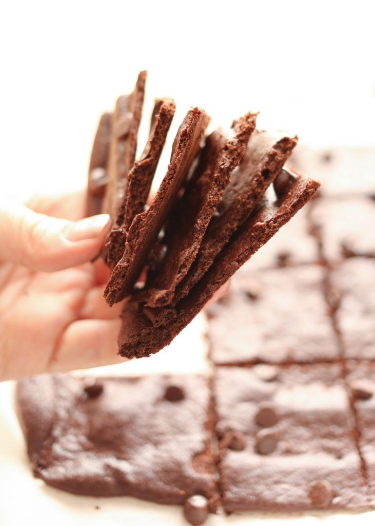 Crispy, crunchy, wafer thin brownies, for snacking or dessert - gluten free and traditional recipes
