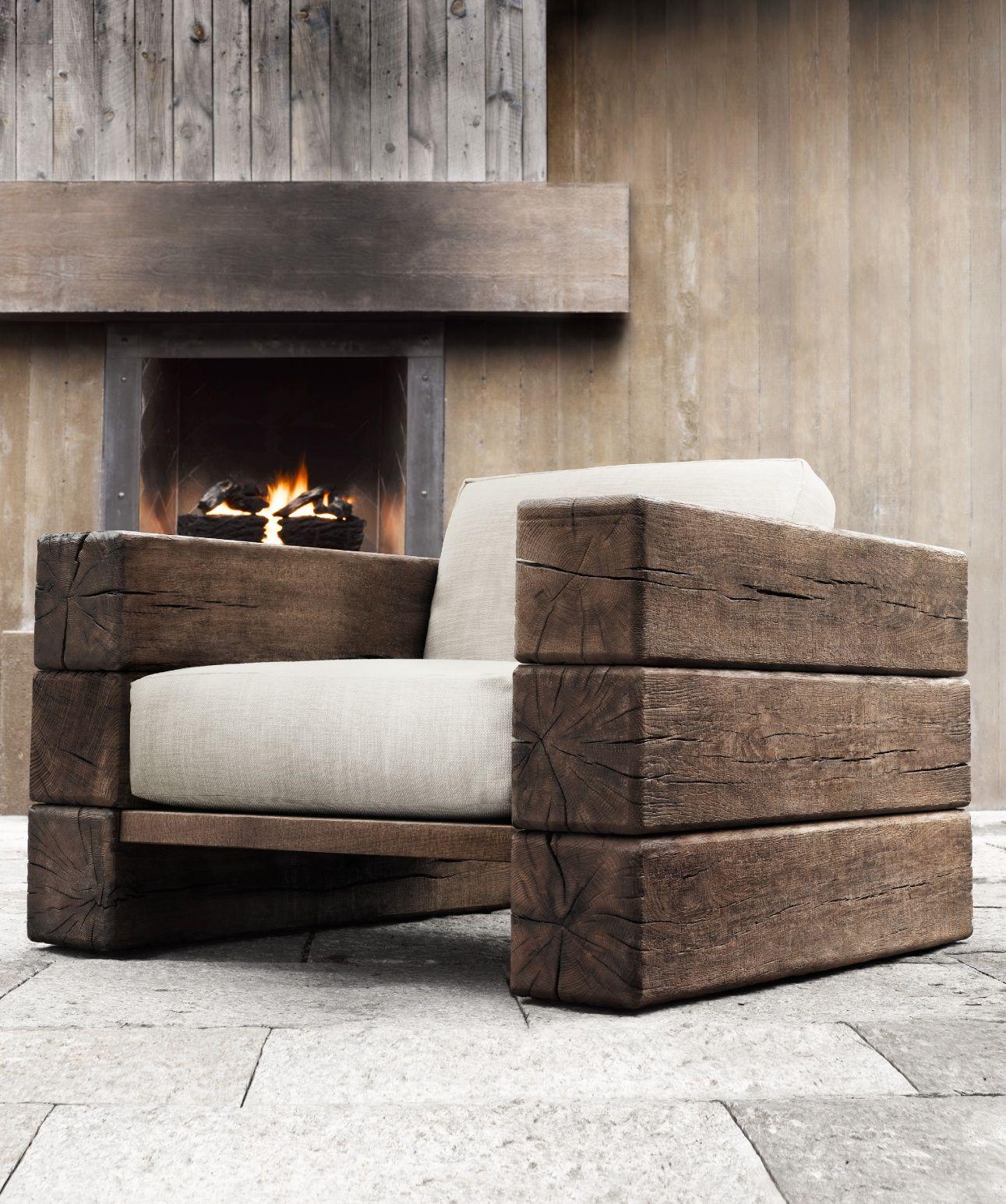 rh source books outdoor couch pinterest m bel stuhl und holz. Black Bedroom Furniture Sets. Home Design Ideas