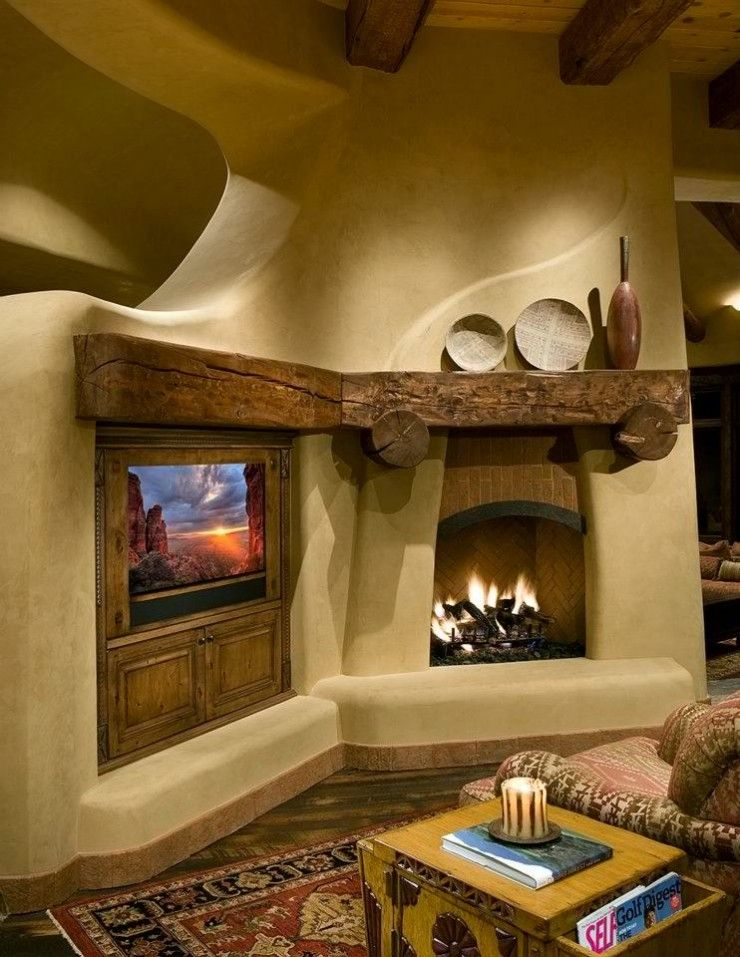20 Fireplace Mantels to Set Your Fireplace on Fire   Adobe ...