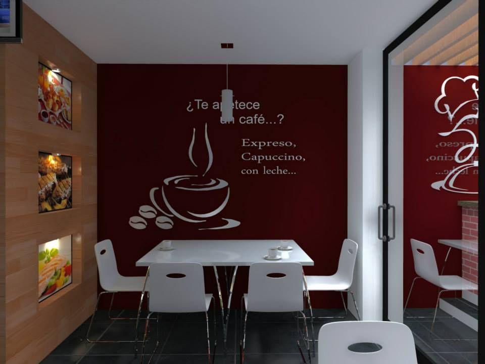 Dise o de interiores para la cafeter a del hotel casa for Disenos para cafeterias