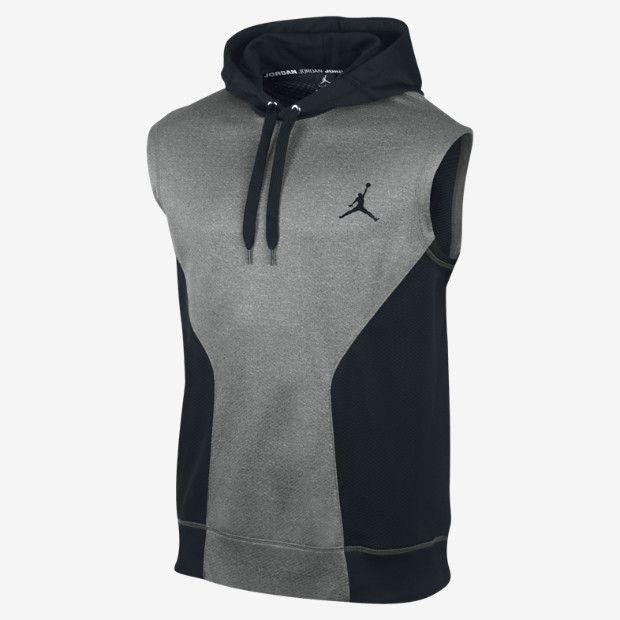 Nike Herren Dri fit Touch Fleece Ärmellose Kapuzenpullover