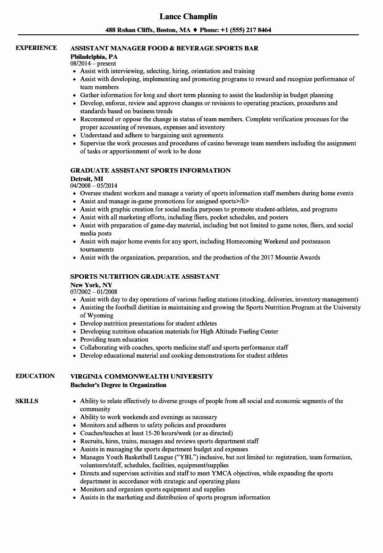 23 Graduate Teaching assistant Job Description Resume in