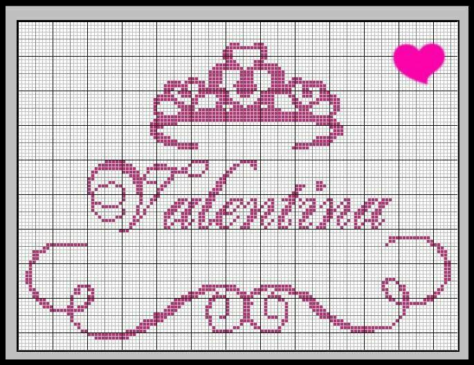 Valentina Coroa Coroas Em Ponto Cruz Ponto Cruz Alfabeto Ponto