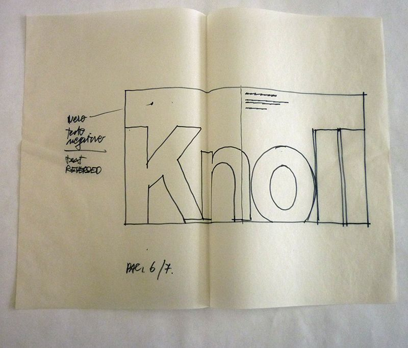 vignelli sketches knoll knoll au lovre catalogue la. Black Bedroom Furniture Sets. Home Design Ideas