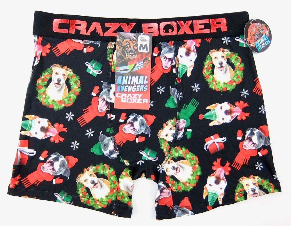 2e8cf5cbfcd7 Crazy Boxers Mens Animal Avengers Christmas Boxer Briefs Size M #CrazyBoxer  #BoxerBrief