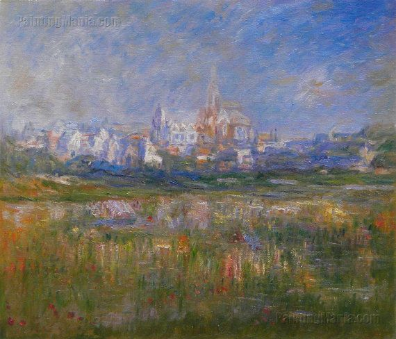 Vetheuil in the Fog  Claude Monet hand-painted by PaintingMania