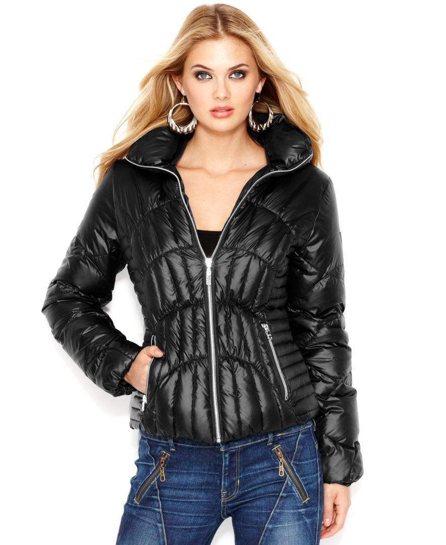 Guess Quilted Down Puffer Jacket in 2019 Puffer jackets