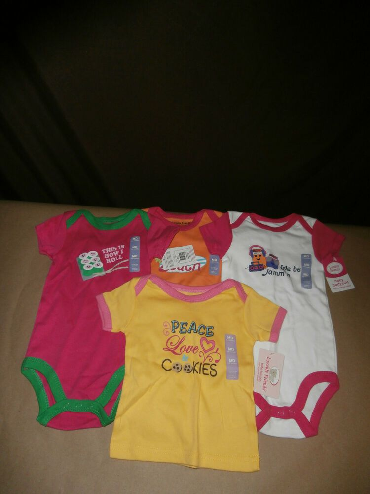 2 NWT Christmas 2-Fer Long Sleeve Baby Girl Bodysuits NB or 0//3M Red /& PInk CUTE