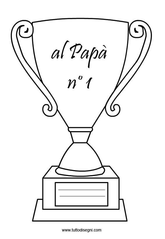 Festa Del Papà Coppa Da Colorare Tuttodisegnicom Fathers Day