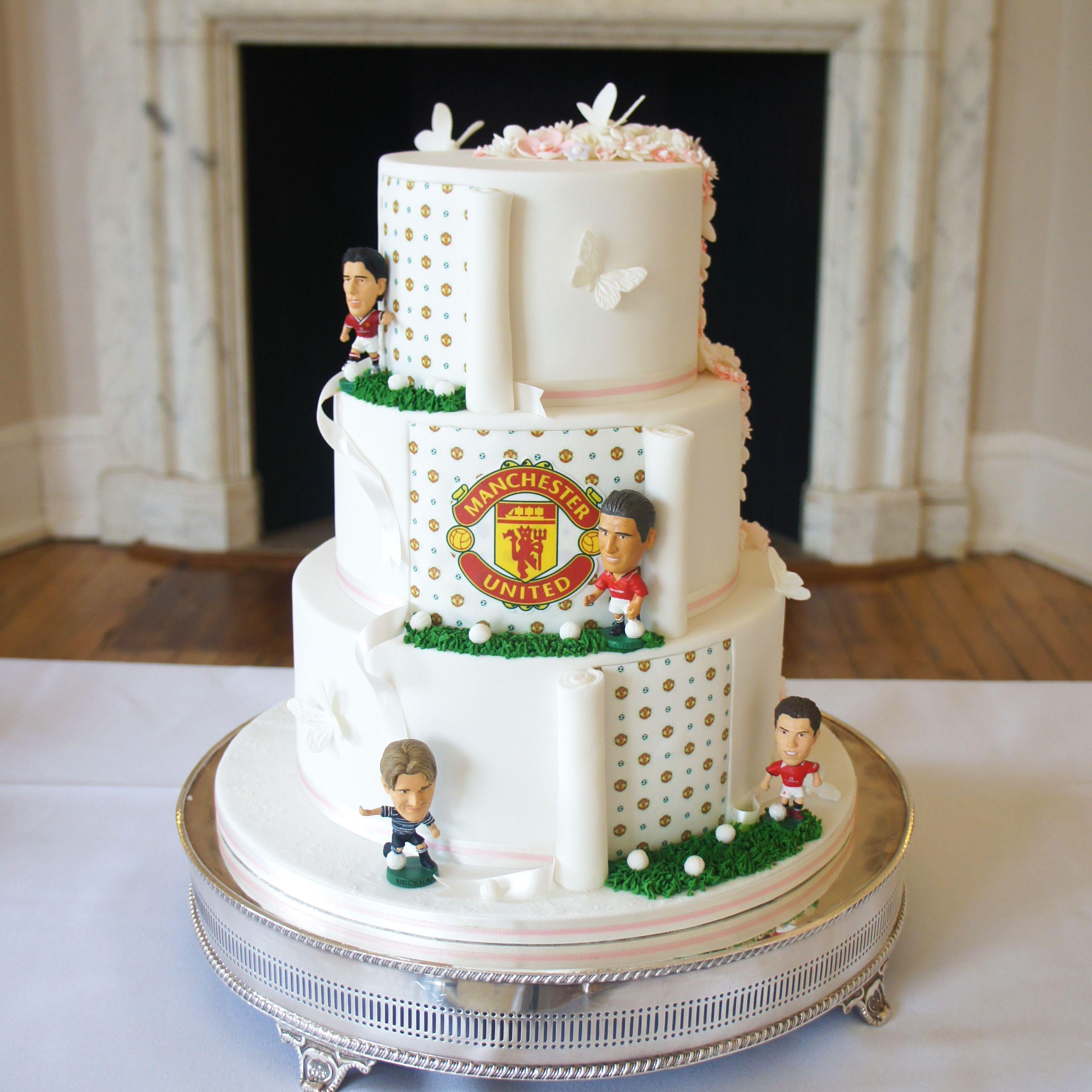Soccer Themed Wedding Ideas: Football Themed Wedding Cake This 3 Tier