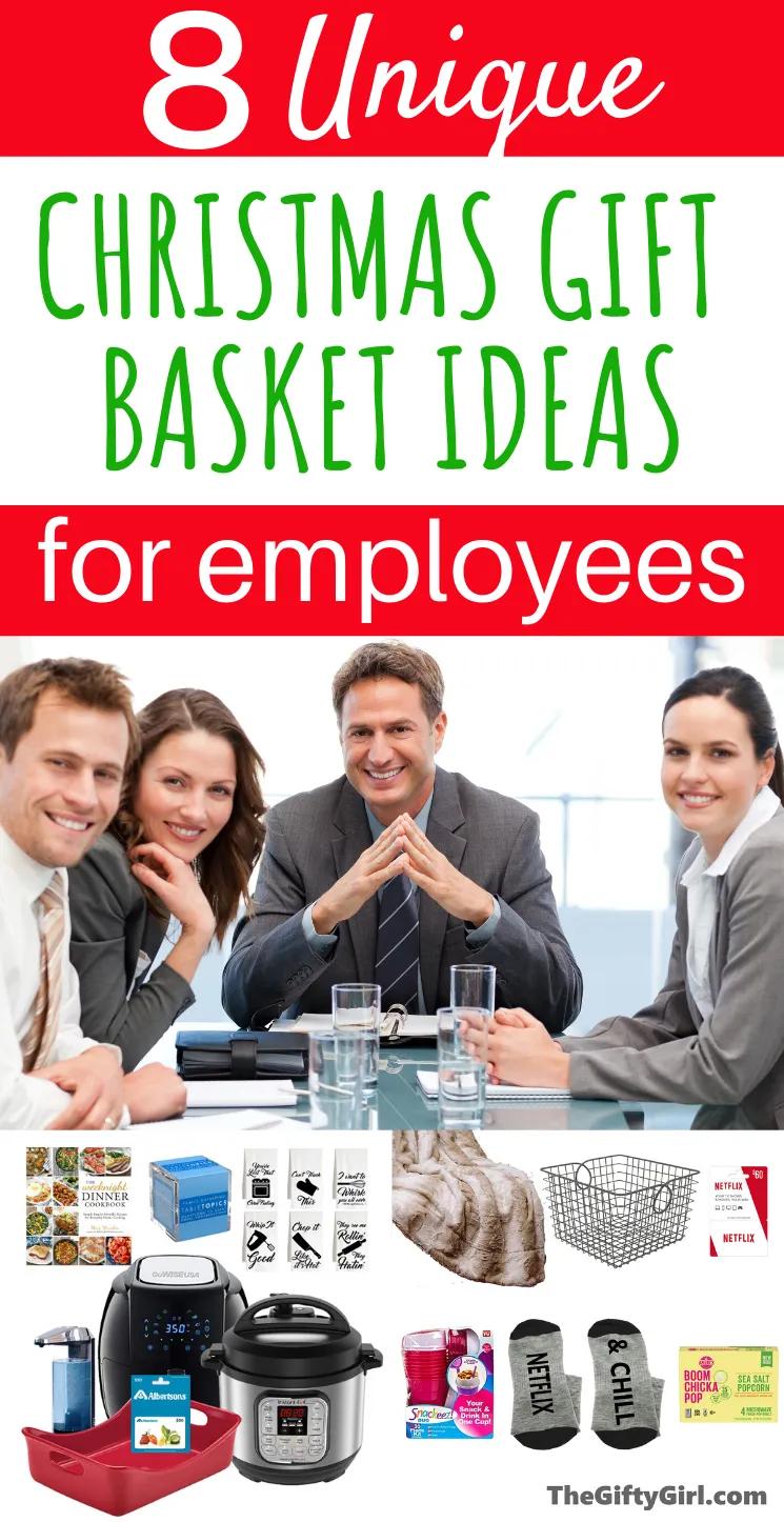 Employee Christmas Gift Basket Ideas The Gifty Girl Employee Christmas Gifts Christmas Gift Basket Employees Christmas
